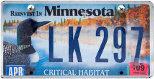 Minnesota number plate