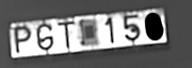 Broken license plate